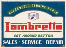 Lambretta Service- Metal Wall Sign